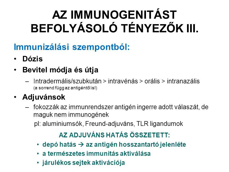 T B A B- és T-sejtek antigén felismerése BCR (membrán Ig) Ellenanyagok (szérum Ig) TCR APC MHC B sejtek natív antigént ismernek fel T sejtek feldolgozott antigént ismernek fel Antigén
