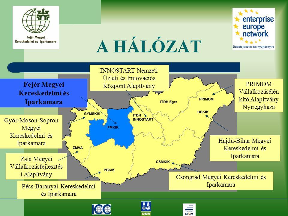 A HÁLÓZAT Győr-Moson-Sopron Megyei Kereskedelmi és Iparkamara Zala Megyei Vállalkozásfejlesztés i Alapítvány Pécs-Baranyai Kereskedelmi és Iparkamara