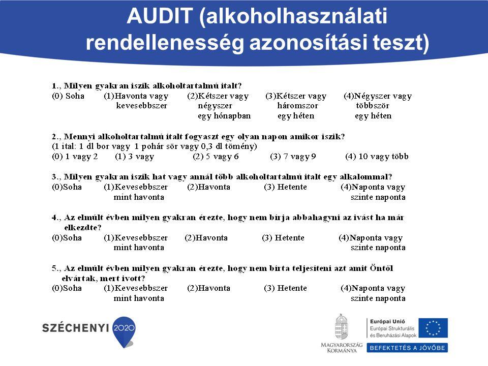 AUDIT (alkoholhasználati rendellenesség azonosítási teszt)