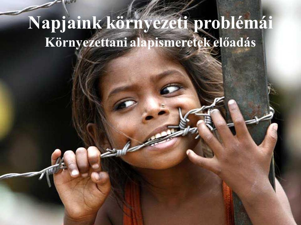 Napjaink környezeti problémái Környezettani alapismeretek előadás