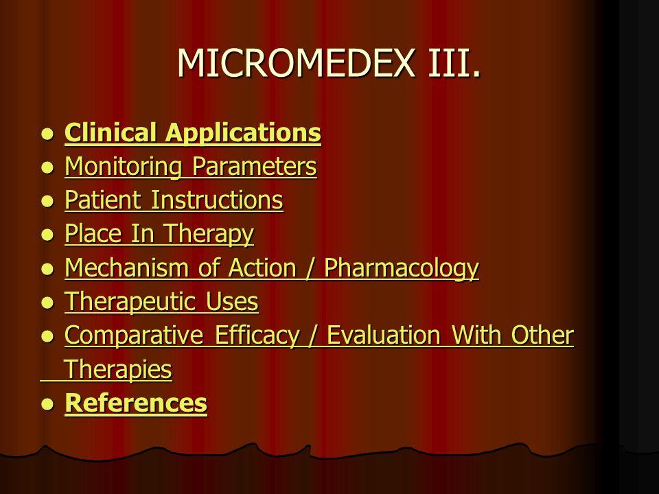 MICROMEDEX III.