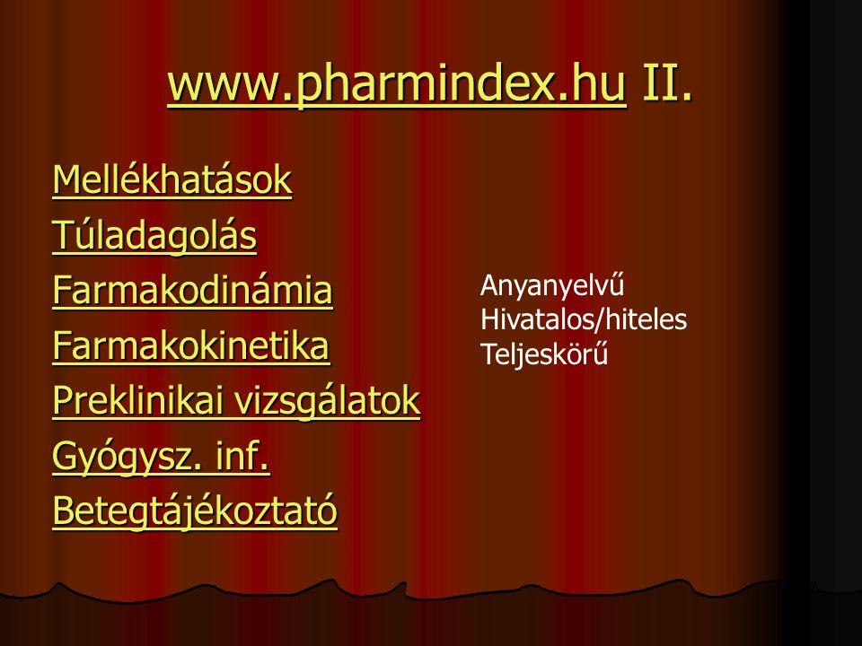 www.pharmindex.huwww.pharmindex.hu II.