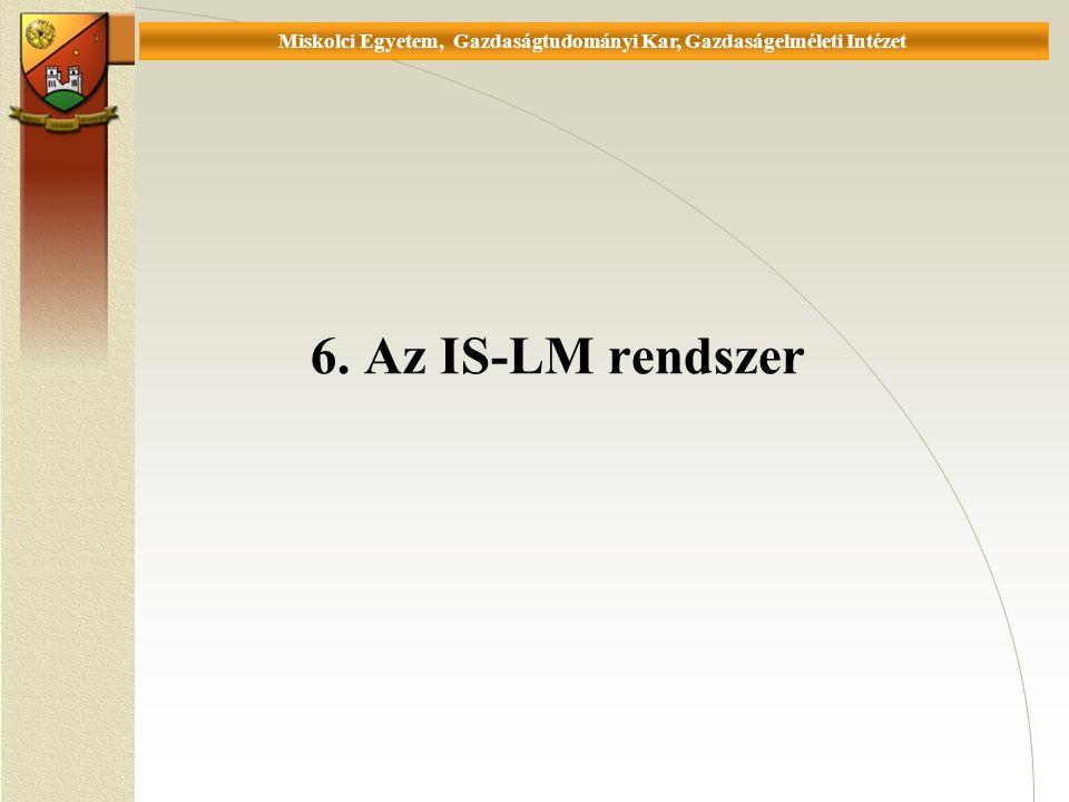 Universität Miskolc, Fakultät für Wirtschaftswissenschaften, Istitut für Wirtschaftstheorie 6.