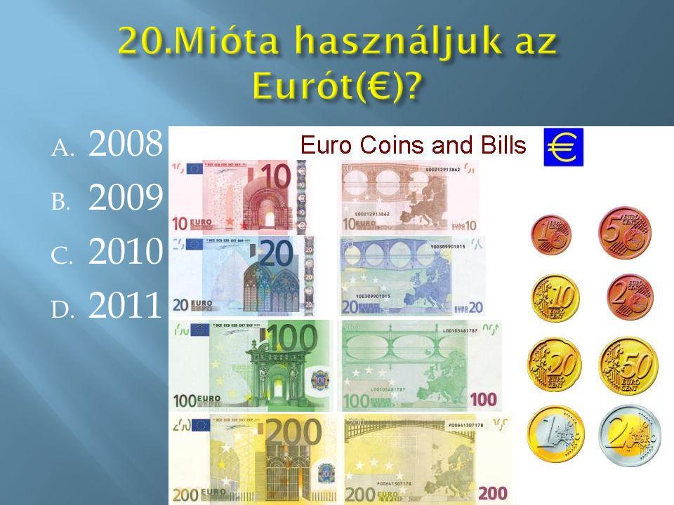 A. 2008 B. 2009 C. 2010 D. 2011