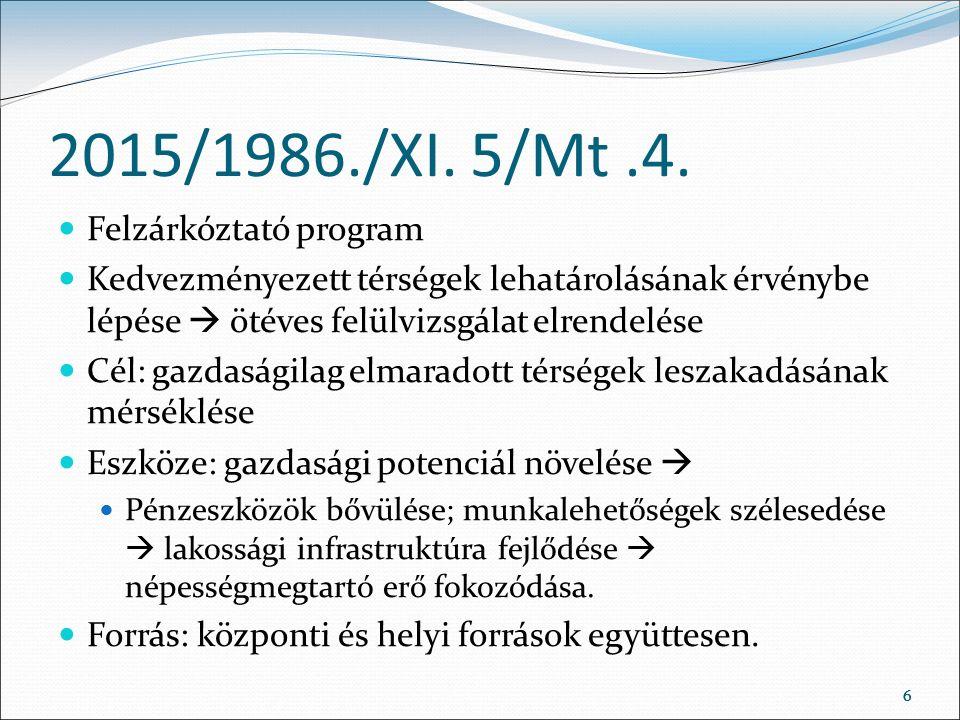 66 2015/1986./XI. 5/Mt.4.