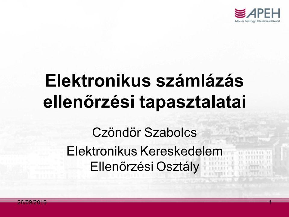 Elektronikus számla ÁFA tv.168.