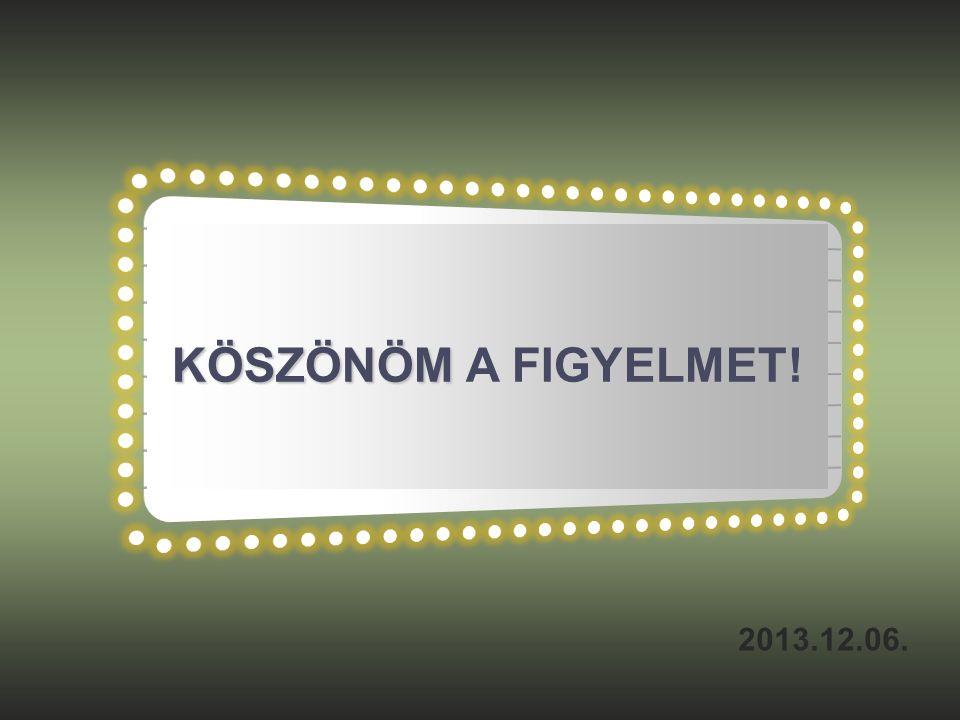 KÖSZÖNÖM KÖSZÖNÖM A FIGYELMET! 2013.12.06.