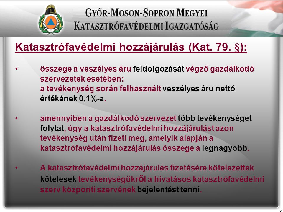 -5- Katasztrófavédelmi hozzájárulás (Kat. 79.