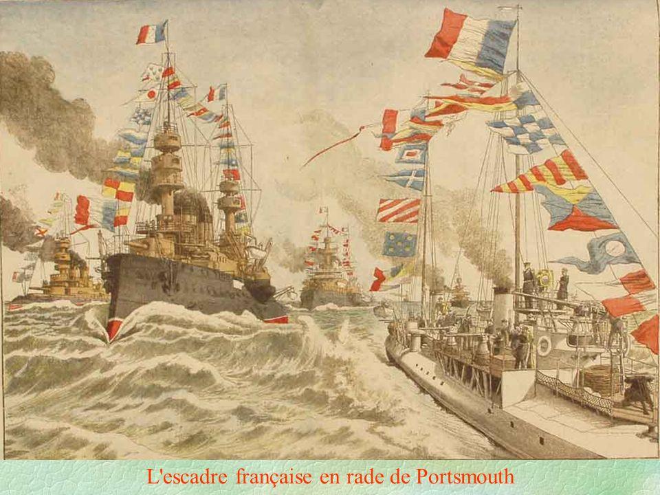 L escadre française en rade de Portsmouth