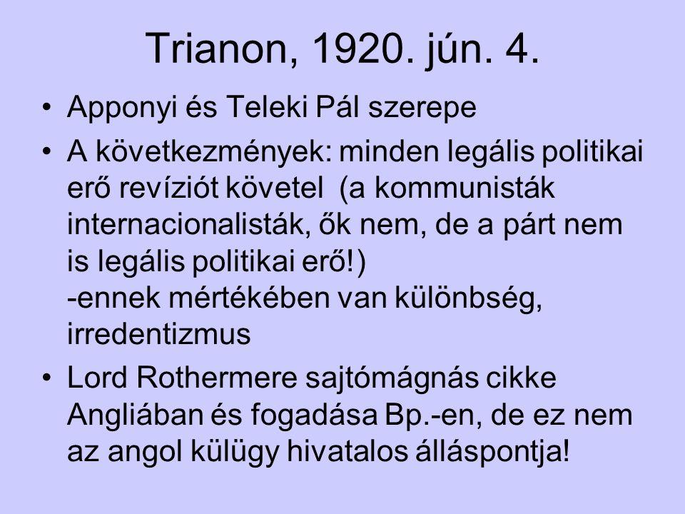 Trianon, 1920. jún. 4.