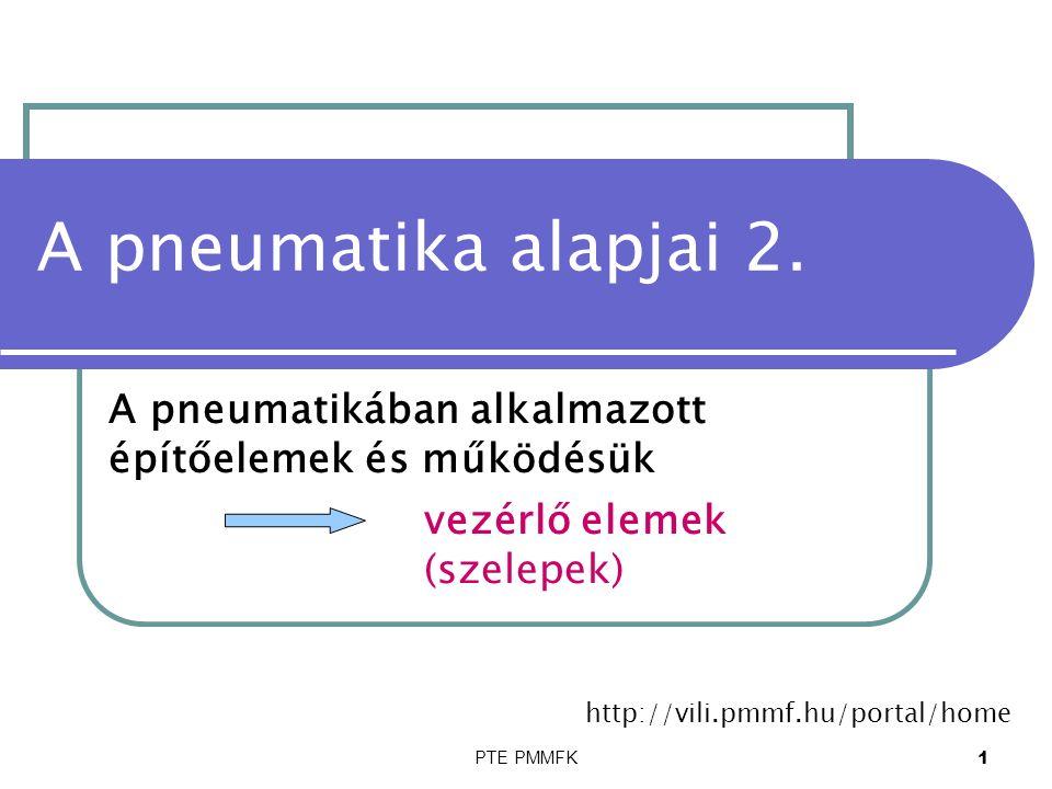 PTE PMMFK12 Pneumatikus vezérlő elemek henger működtetés: 5/2 útváltóval 12 14 153 42