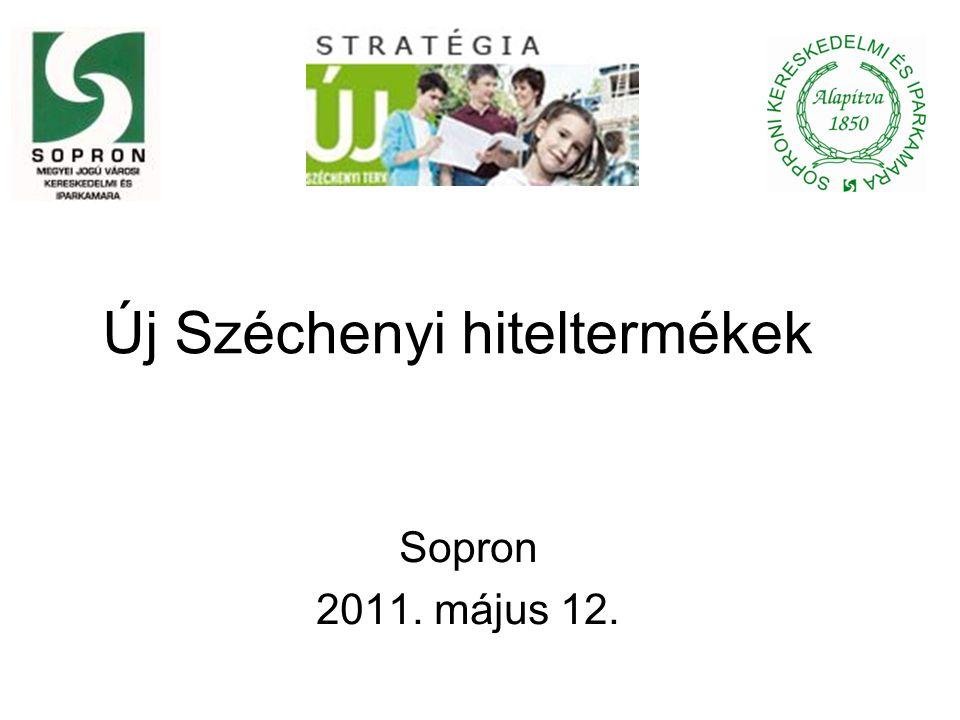 Új Széchenyi hiteltermékek Sopron 2011. május 12.