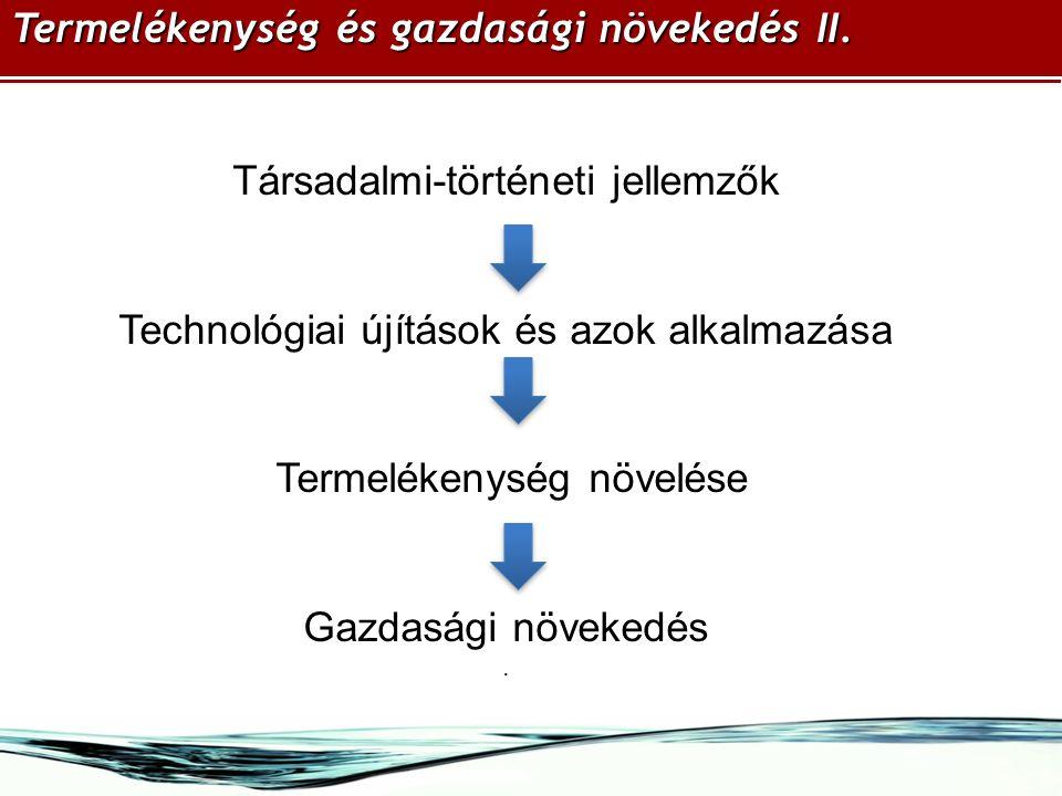 Termelékenység és gazdasági növekedés II.