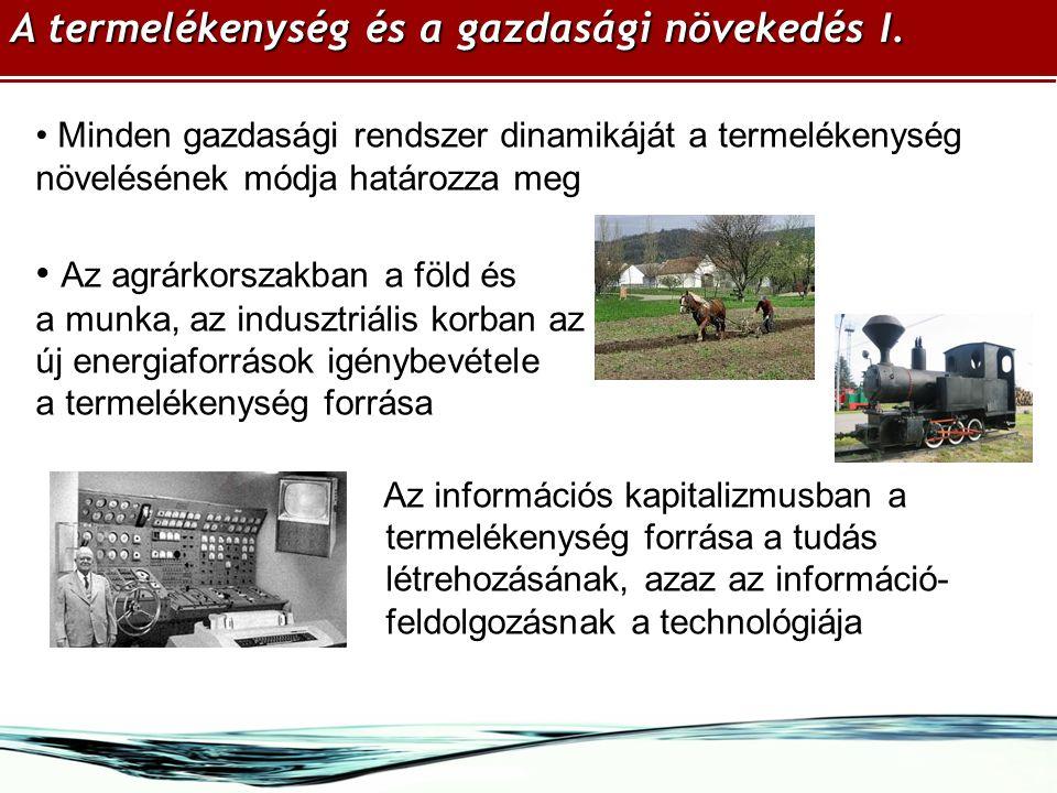 A termelékenység és a gazdasági növekedés I.