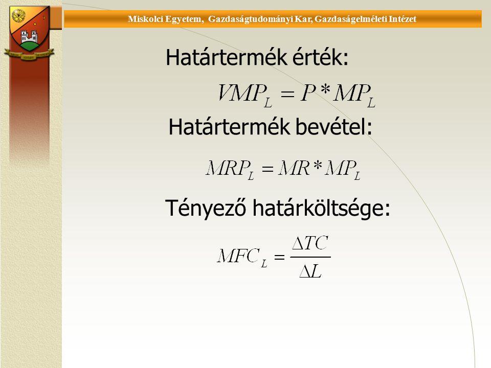 Universität Miskolc, Fakultät für Wirtschaftswissenschaften, Institut für Wirtschaftstheorie Reáltőke kínálata és bérleti díj 1.