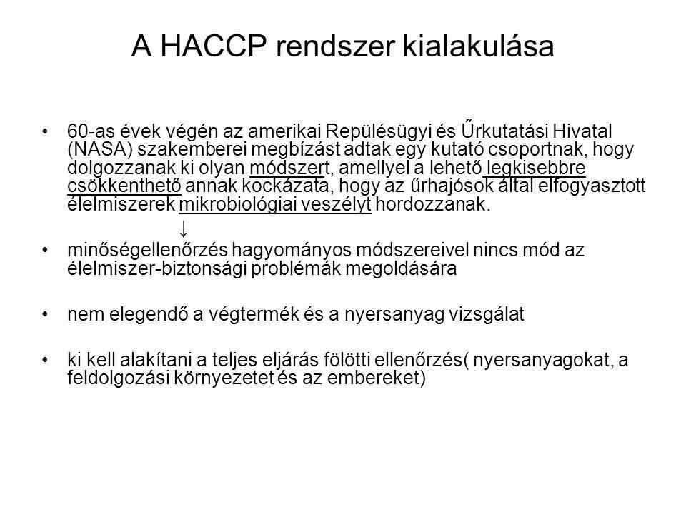 HEFOP 3.3.1.A HACCP integráló szerepe A HACCP rendszer keretrendszerként is működik.