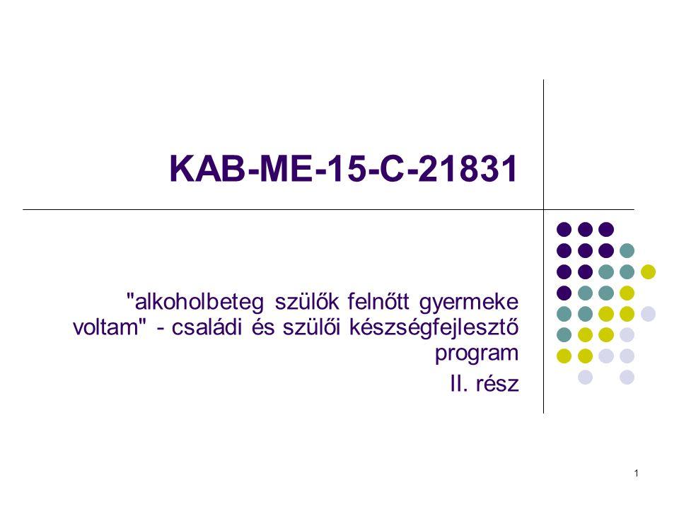 1 KAB-ME-15-C-21831 alkoholbeteg szülők felnőtt gyermeke voltam - családi és szülői készségfejlesztő program II.