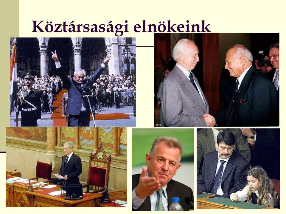 2016. 09. 27. Alkotmányjog 2. Köztársasági elnökeink