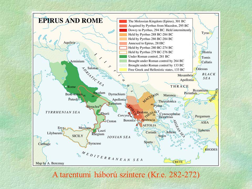 Pürrhosz Epeirosz királyának itáliai hadjárata, amely elhozta Itáliába a hellenisztikus hadviselést