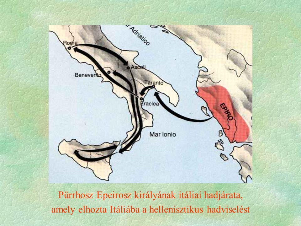 A becsvágyó Pürrhosz márvány mellszobra.