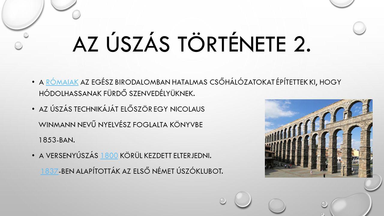 AZ ÚSZÁS TÖRTÉNETE 2.