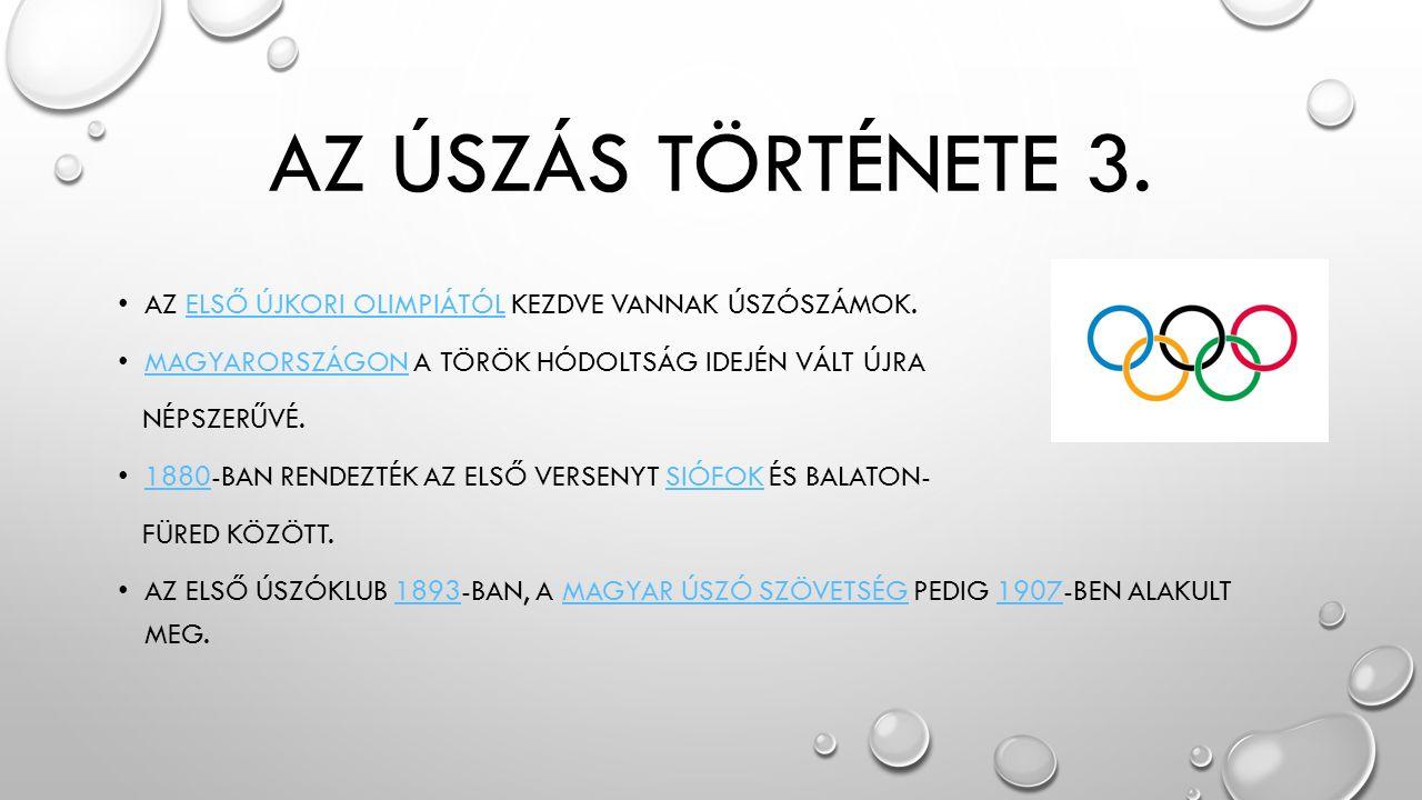 AZ ÚSZÁS TÖRTÉNETE 3.