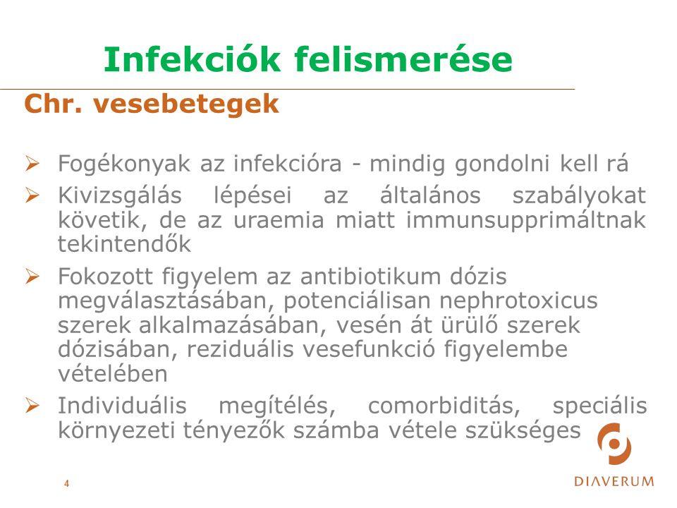 Kanülinfekciók kezelése 25  Antibiotikum adás: -Empíricus: vancomycin, gentamicin, ceftazidim -Célzott -Staph.aureus esetén 72 óra múlva kontroll HK  Antibiotikum adás időtartama: -Kanül eltávolítás esetén 2-3 hét -Kanül megtartás, antibiotikum lock 2-3 hét -Staph.