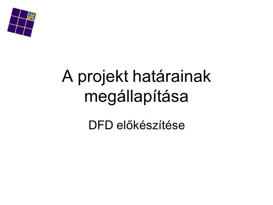 A projekt határainak megállapítása DFD előkészítése
