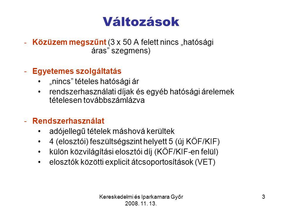 Kereskedelmi és Iparkamara Győr 2008.11. 13. 14 Kötelező átvételről szóló 389/2007.