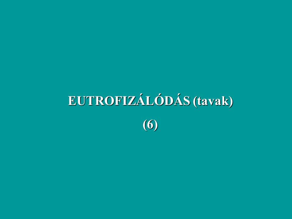 EUTROFIZÁLÓDÁS (tavak) (6)