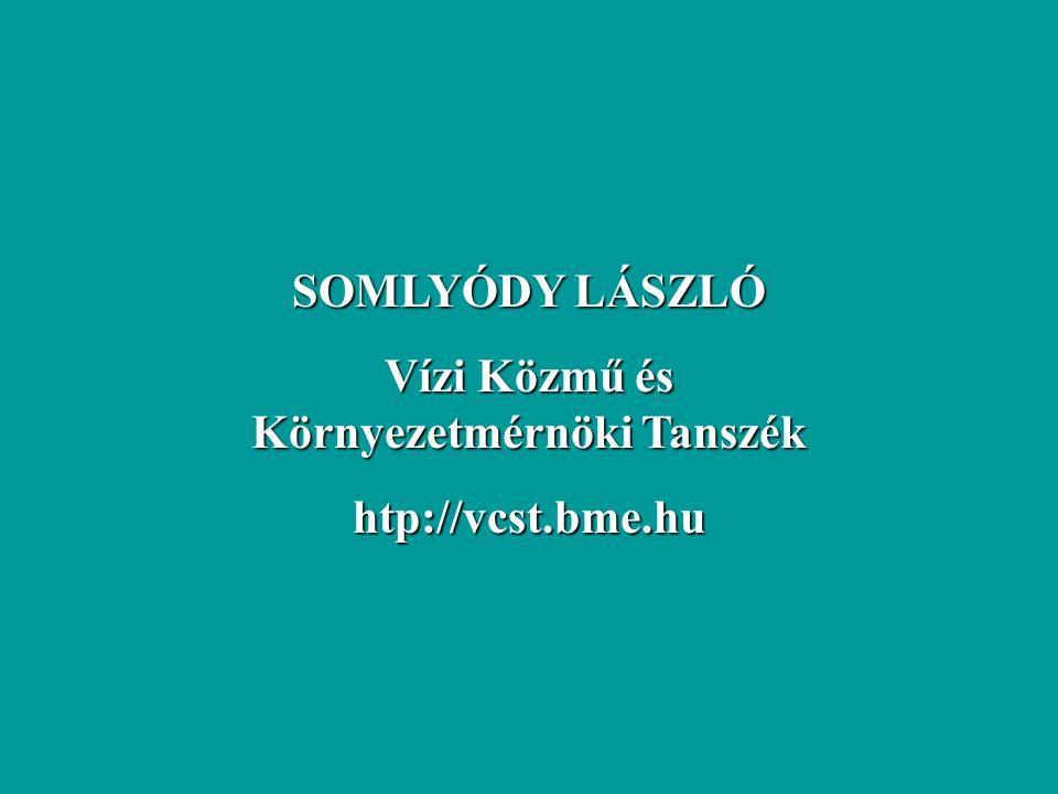 SOMLYÓDY LÁSZLÓ Vízi Közmű és Környezetmérnöki Tanszék htp://vcst.bme.hu