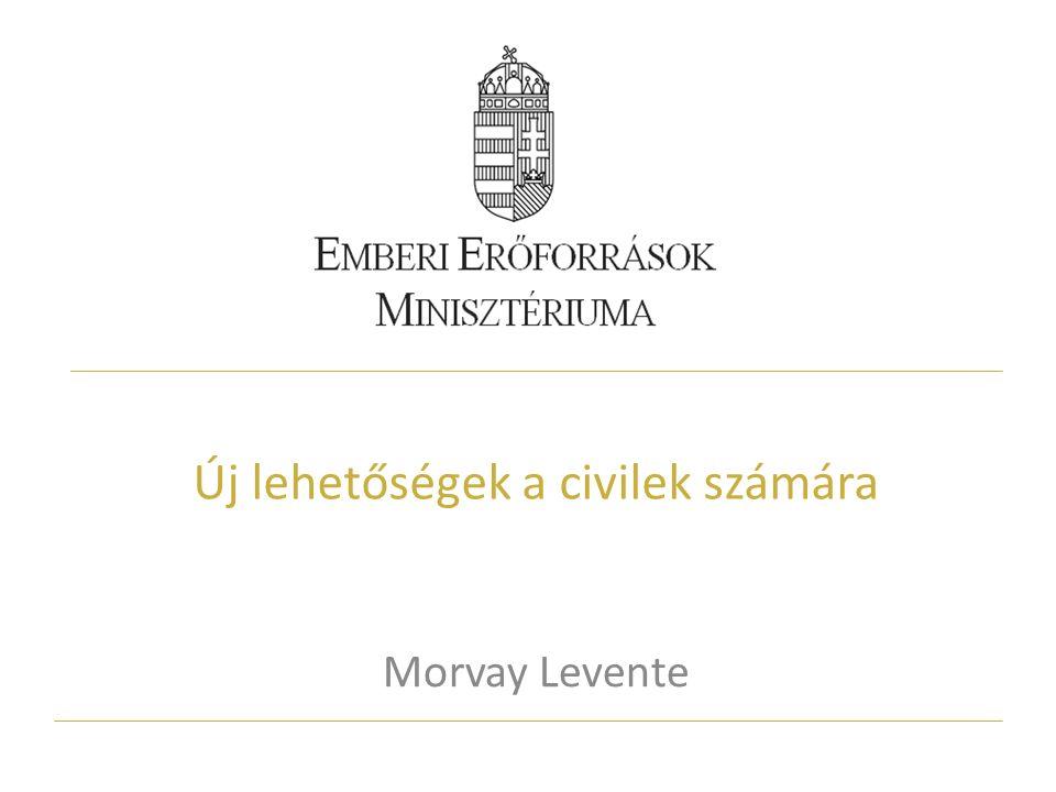 Új lehetőségek a civilek számára Morvay Levente