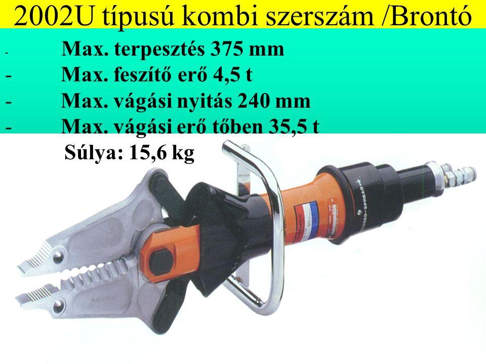 2002U típusú kombi szerszám /Brontó - Max. terpesztés 375 mm - Max.