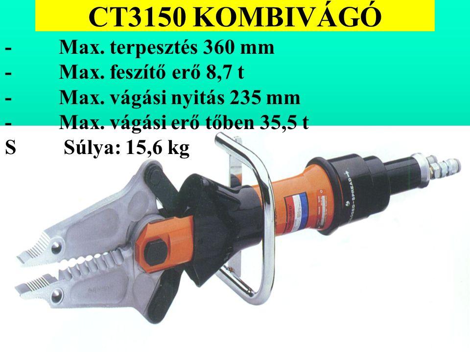 CT3150 KOMBIVÁGÓ - Max. terpesztés 360 mm - Max. feszítő erő 8,7 t - Max.