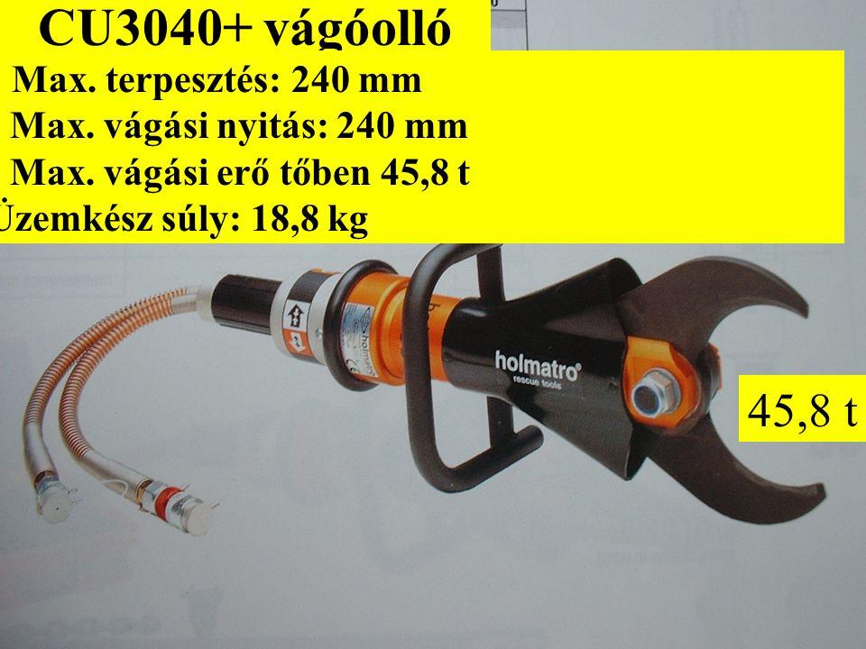 CU3040+ vágóolló - Max.terpesztés: 240 mm - Max. vágási nyitás: 240 mm - Max.