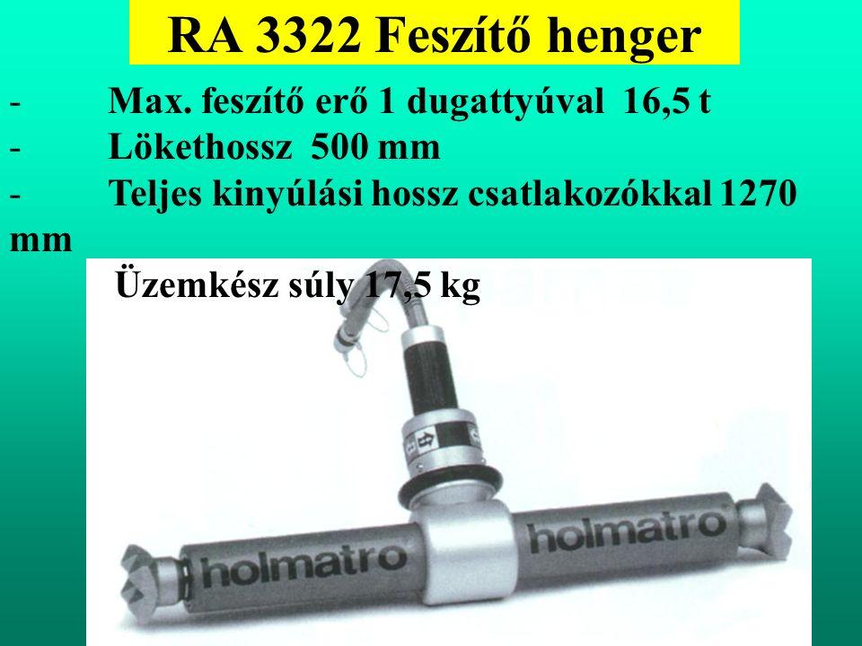 RA 3322 Feszítő henger - Max.