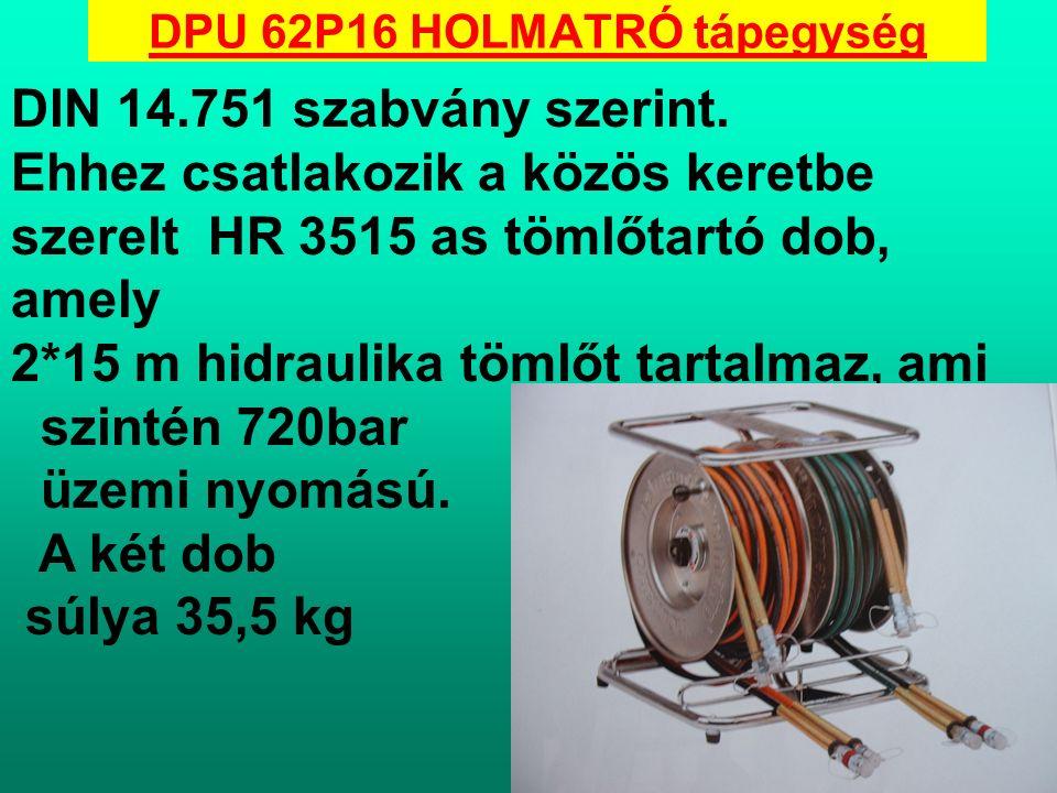 HTW 1800 BU HOLMATRÓ Kézi szivattyú: - 720 bar üzemi nyomás - Kétfokozatú kézi működtetésű szivattyú falemez hordozó alapon -löketenkénti olajleadás I-es fokozatban : 28 cc II-es fokozatban:2,3 cc - hasznos olajtartalom 1800 cc - üzemkész súly : 11,5kg