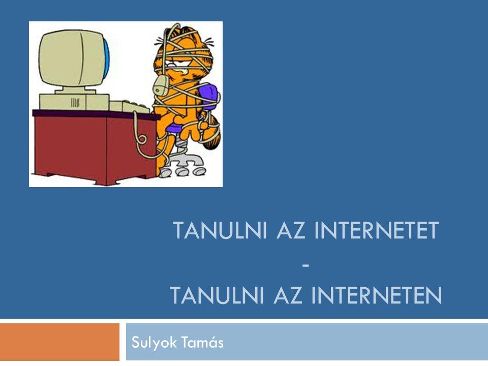 TANULNI AZ INTERNETET - TANULNI AZ INTERNETEN Sulyok Tamás