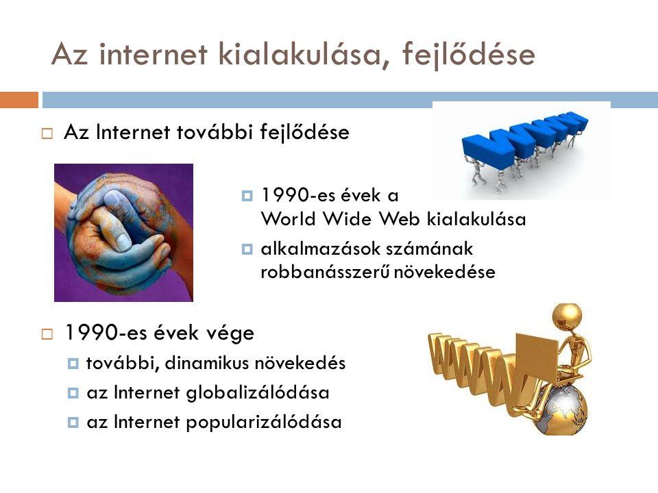 Az internet jellemzői