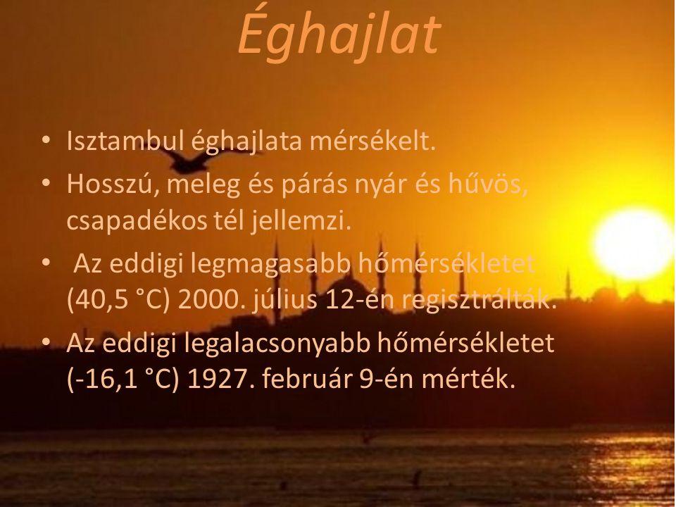 Éghajlat Isztambul éghajlata mérsékelt.