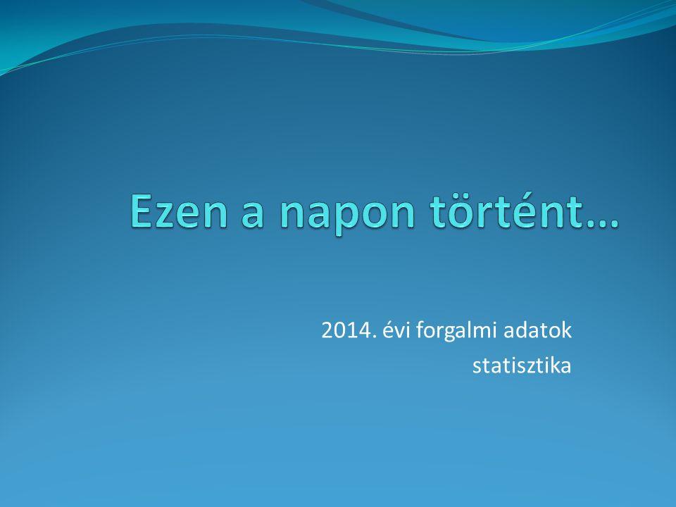 2014. évi forgalmi adatok statisztika