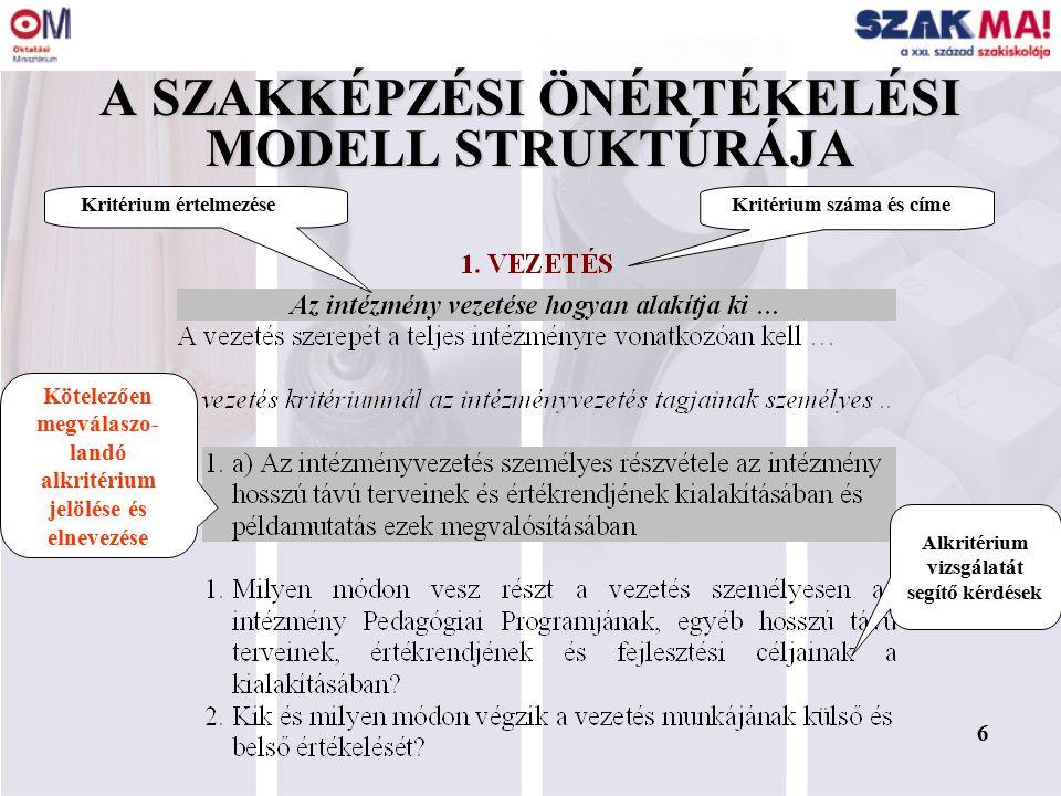 5 FŐBB VÁLTOZÁSOK (SZÖM III.) 1.A követelményrendszer a SZÖM II.