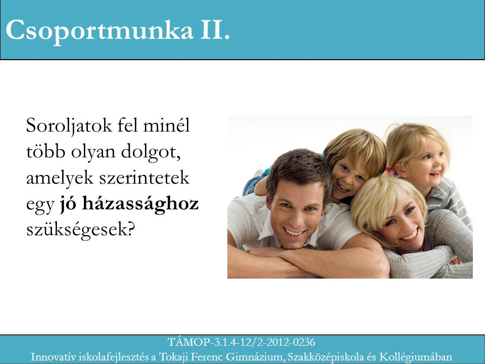 Csoportmunka II.