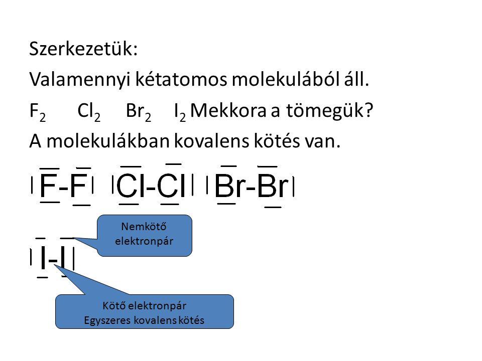 Szerkezetük: Valamennyi kétatomos molekulából áll.