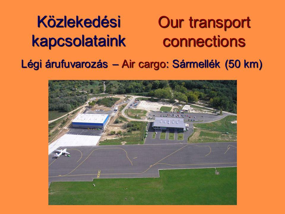Közlekedési kapcsolataink Légi árufuvarozás – Air cargo: Sármellék (50 km) Our transport connections