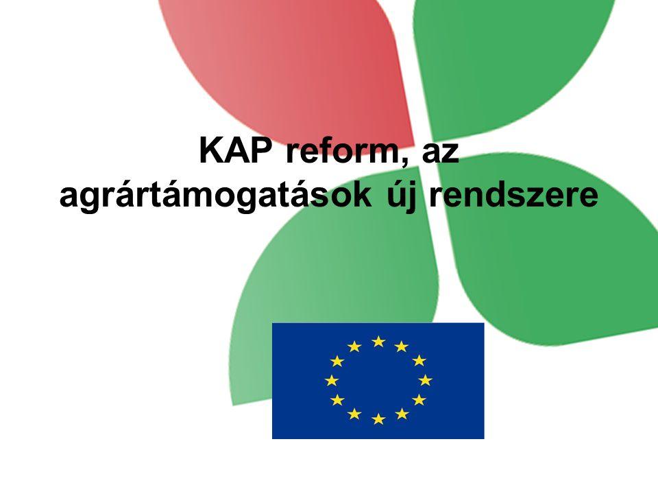 KAP reform, az agrártámogatások új rendszere