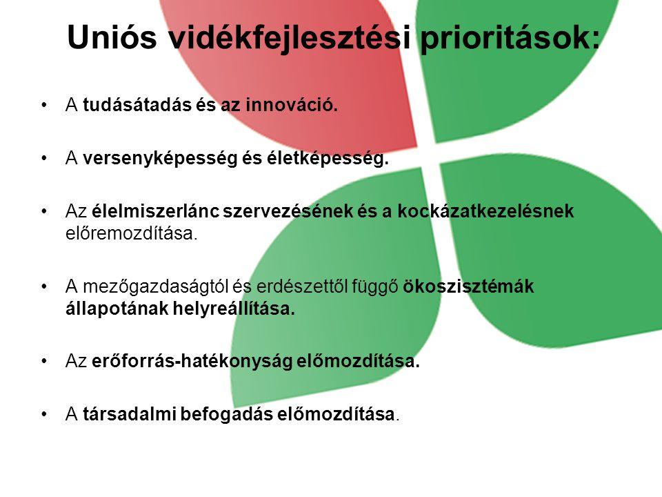 Uniós vidékfejlesztési prioritások: A tudásátadás és az innováció.