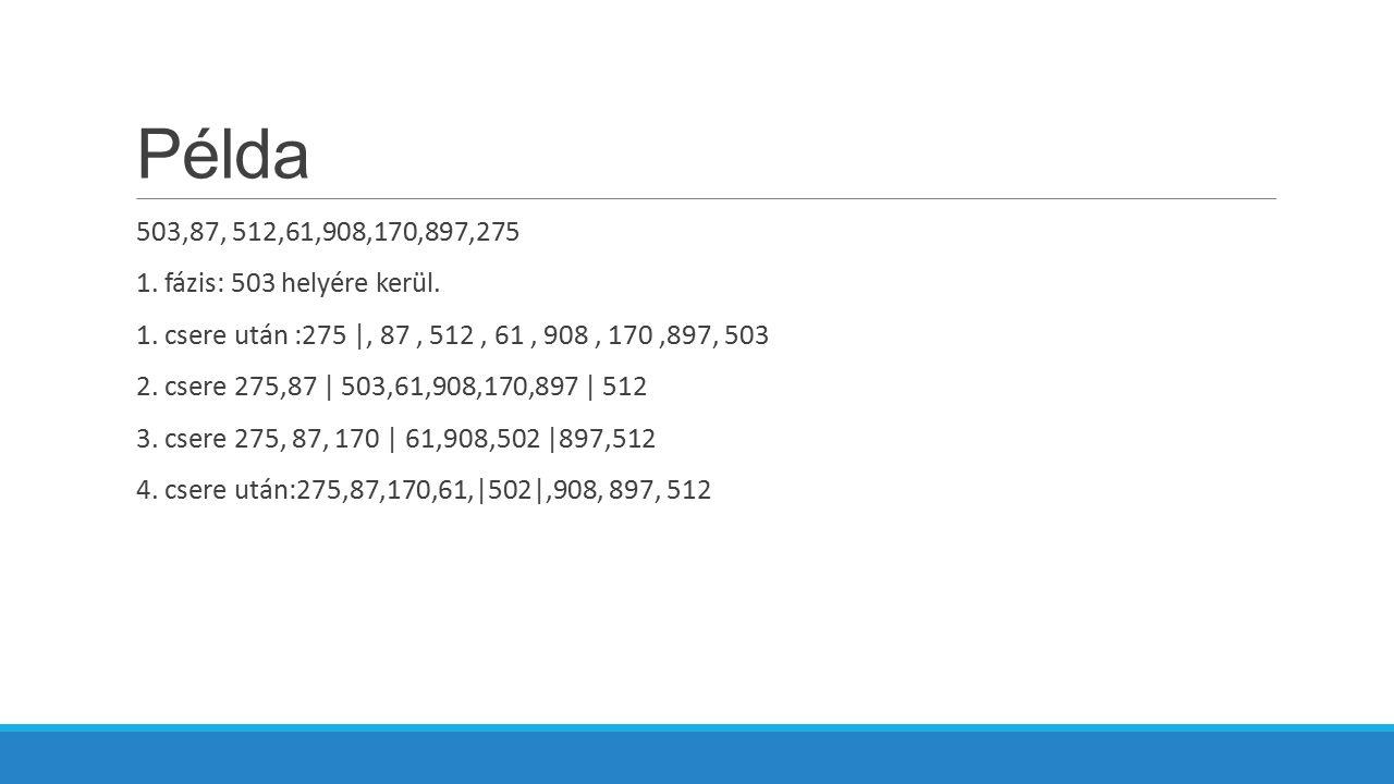 Példa 503,87, 512,61,908,170,897,275 1.fázis: 503 helyére kerül.