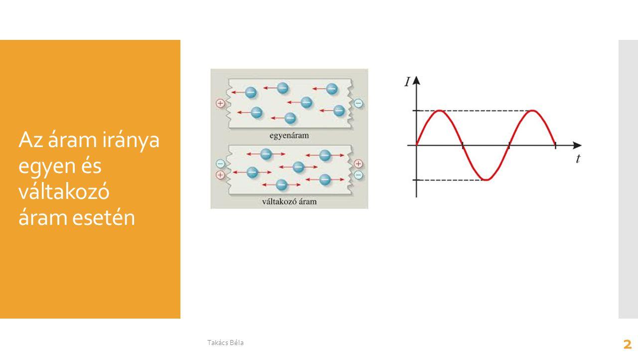 Az áram iránya egyen és váltakozó áram esetén Takács Béla 2