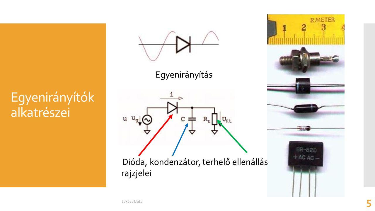 A szűrőáramkö- rökben használt kondenzátorok, (töltéstárolók) Nagy kapacitású elektrolit kondenzátorok Az elektrolit kondenzátor rajzjele takács Béla 6